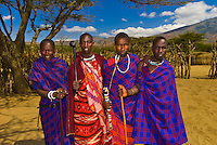 Maasai men, Manyatta village, Ngorongoro Conservation Area, Tanzania