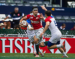 France vs Portugal during the HSBC Sevens Wold Series Bowl Quarter Finals match as part of the Cathay Pacific / HSBC Hong Kong Sevens at the Hong Kong Stadium on 29 March 2015 in Hong Kong, China. Photo by Manuel Bruque / Power Sport Images