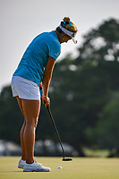 Lexi Thompson (USA) sinks her putt on 18 during round 4 of the 2019 US Women's Open, Charleston Country Club, Charleston, South Carolina,  USA. 6/2/2019.<br /> Picture: Golffile | Ken Murray<br /> <br /> All photo usage must carry mandatory copyright credit (© Golffile | Ken Murray)