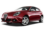 Low aggressive front three quarter view of a 2010 - 2014 Alfa Romeo Giulietta 5 door hatchback.