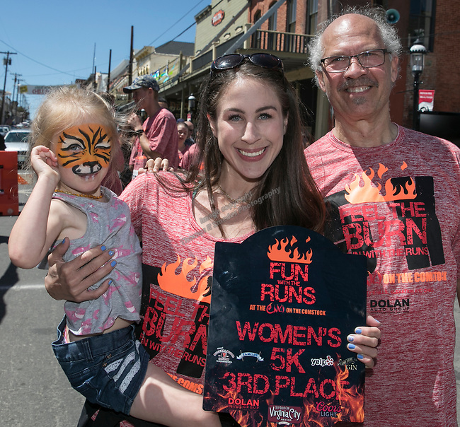 Lydia and Jessica Brandt with Fred Myer at the 34th Annual Chili on the Comstock Cook Off in Virginia City on Sunday, May 21, 2017.