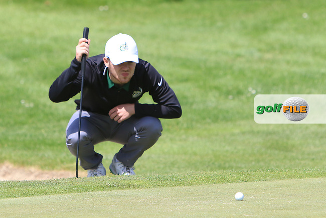 Marc Boucher (Carton House) on the 2nd green during Round 4 of the Ulster Stroke Play Championships at Galgorm Castle Golf Club, Ballymena, Northern Ireland. 28/05/19<br /> <br /> Picture: Thos Caffrey / Golffile<br /> <br /> All photos usage must carry mandatory copyright credit (© Golffile | Thos Caffrey)