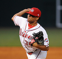 July 29, 2009: RHP Felix Ventura (36) of the Greenville Drive in a game at Fluor Field at the West End in Greenville, S.C. Photo by: Tom Priddy/Four Seam Images