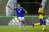 31st October 2019; Bezerrao Stadium, Brasilia, Distrito Federal, Brazil; FIFA U-17 World Cup Brazil 2019, Solomon Islands versus Paraguay; Diego Torres of Paraguay celebrates his goal in the 65th minute for 0-3 - Editorial Use