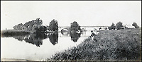 BNPS.co.uk (01202 558833)<br /> Pic: Bonhams/BNPS<br /> <br /> Sign of change - Prout's picture of Brunels new GWR bridge at Maidenhead.<br /> <br /> 'Old man river, he just keeps rollin' - A remarkable collection of panoramic photographs of the Thames taken 160 years ago have emerged for auction, and they reveal how little the famous old river has changed in the last century and a half.<br /> <br /> They follow the river from London to Oxford in 40 photographs providing a fascinating insight into how the famous river looked in the mid-19th century.<br /> <br /> Londoner Victor Prout started photographing the Thames in 1857 using a camera which would produce wide-vision images because of a lens that swung round and 'scanned' sections of the picture.<br /> <br /> This rare complete copy of the first edition of Prout's pioneering panoramics has emerged for auction and is tipped to sell for &pound;12,000 when they go under the hammer at Bonhams on March 1.