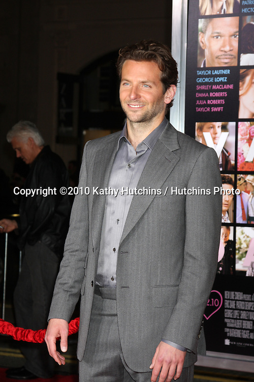 Bradley Cooper.arrivng at the Valentine's Day World Premiere.Grauman's Chinese Theater.Los Angeles, CA.February 8, 2010.©2010 Kathy Hutchins / Hutchins Photo....