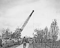 Man o' War's funeral, November 1947, at Faraway Farm in Lexington, Kentucky