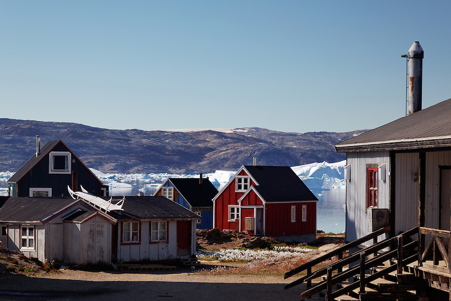 Settlement of Tiniteqilaaq on Sermilik Fjord, East Greenland