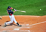 5 March 2010: Atlanta Braves' infielder Brandon Hicks in action during a Spring Training game against the Washington Nationals at Champion Stadium in the ESPN Wide World of Sports Complex in Orlando, Florida. The Braves defeated the Nationals 11-8 in Grapefruit League action. Mandatory Credit: Ed Wolfstein Photo