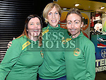 Ruth McCabe, Judith Faulkner and Ellen Byrne pictured at the launch of the 2016 Boyne 10K in the laurence Town Centre. Photo:Colin Bell/pressphotos.ie