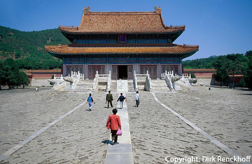 Grab Dingling, Opferhalle, östliche Qinggräber (qing dong  ling) bei Peking (Beijing), China, Unesco-Weltkulturerbe