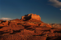 751000002 sunrise lights up wild horse butte in goblin valley state park utah united states