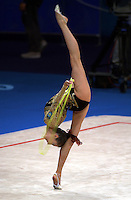 Oct 01, 2000; SYDNEY, AUSTRALIA:<br /> Elena Vitrichenko of Ukraine performs with rope during rhythmic gymnastics qualifying at 2000 Summer Olympics. Elena went on to take 4th <br /> in the individual all around.