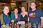 QUIZ NIGHT: Enjoying a great time at the John Mitchels GAA club quiz night at the their clubhouse on Thursday l-r: Mary and Claire Connolly, Marian Park, Cora McElligott and Barry Connolly from Boherbue.