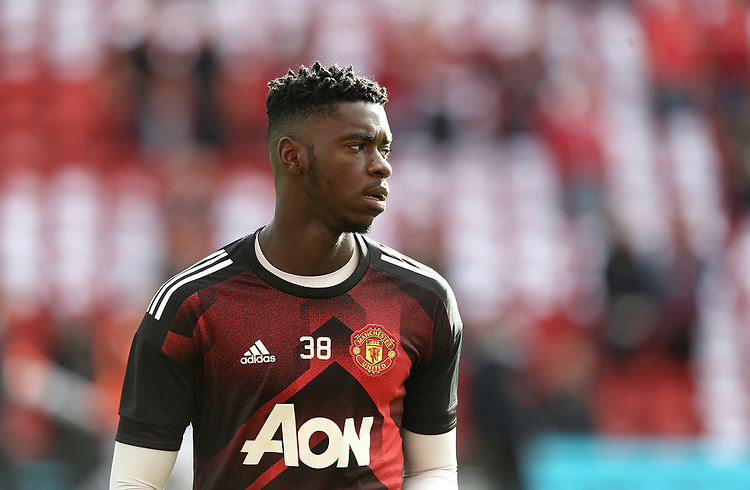 Manchester United's Axel Tuanzebe during the pre-match warm-up <br /> <br /> Photographer Rich Linley/CameraSport<br /> <br /> The Premier League - Liverpool v Manchester United - Saturday 14th October 2017 - Anfield - Liverpool<br /> <br /> World Copyright &copy; 2017 CameraSport. All rights reserved. 43 Linden Ave. Countesthorpe. Leicester. England. LE8 5PG - Tel: +44 (0) 116 277 4147 - admin@camerasport.com - www.camerasport.com