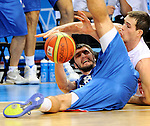 Stefan Markovic, Bykov Sergey, during quarterfinal basketball game between Russia and Serbia in Kaunas, Lithuania, Eurobasket 2011, Thursday, September 15, 2011. (photo: Pedja Milosavljevic)