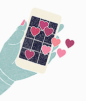 Using smart phone for internet dating