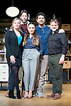 "Pilar Castro, Andrew Tarbet, Candela Peña, the director Cesc Gay and Xavi Mira during theater play of ""Los vecinos de arriba"" at Teatro La Latina in Madrid. April 05, 2016. (ALTERPHOTOS/Borja B.Hojas)"