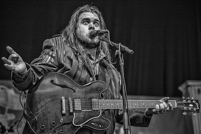 Blues guitarist Jonathon 'Boogie' Long of Jonathon'Boogie' Long and the Blues Revolution performs on the Blues Tent Stage during the 2013 New Orleans Jazz & Heritage Music Festival at Fair Grounds Race Course on May 4, 2013 in New Orleans, Louisiana. USA.