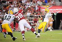Aug. 28, 2009; Glendale, AZ, USA; Green Bay Packers punter (7) Jeremy Kapinos against the Arizona Cardinals during a preseason game at University of Phoenix Stadium. Mandatory Credit: Mark J. Rebilas-