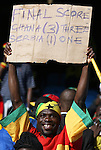 13 JUN 2010:  Ghana fans in the stands.  The Serbia National Team played the Ghana National Team at Loftus Versfeld Stadium in Tshwane/Pretoria, South Africa in a 2010 FIFA World Cup Group D match.
