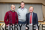 Peter Kane, Maurice O'Connor and Johnny Burrows enjoying the Lee Strand christmas party at the Brandon Hotel on Saturday