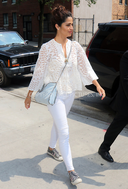 WWW.ACEPIXS.COM<br /> <br /> June 11 2015, New York City<br /> <br /> Model Camila Alves visited an office in Midtown Manhattan on June 11 2015 in New York City<br /> <br /> By Line: Philip Vaughan/ACE Pictures<br /> <br /> ACE Pictures, Inc.<br /> tel: 646 769 0430<br /> Email: info@acepixs.com<br /> www.acepixs.com