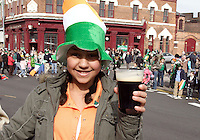 St Patricks Parade Birmingham  11th Mar 07 .Amber Heffernan toasts her Dublin  roots .