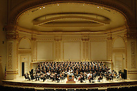 The Southern Arizona Women's Chorus, formerly known as the Foothills Women's Chorus, performs with Pope John Paul II High School Advanced Women's Chorus of Hendersonville, TN, St. Cecilia Academy Chorus of Nashville, TN, and the New England Symphonic Ensemble during a dress rehearsal at Carnegie Hall in New York, NY on Sunday, June 25, 2006.