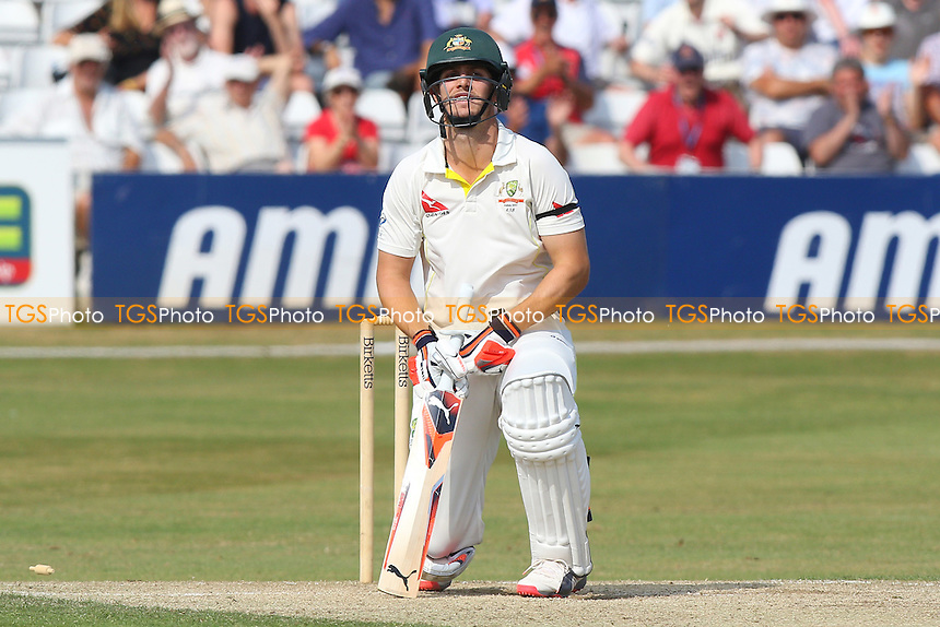 Mitchell Marsh of Australia reacts after being bowled out by Matt Salisbury - Essex CCC vs Australia - Tourist Match ahead of the 2015 Ashes Series at the Essex County Ground, Chelmsford, Essex - 03/07/15 - MANDATORY CREDIT: Gavin Ellis/TGSPHOTO