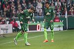 15.04.2018, Weser Stadion, Bremen, GER, 1.FBL, Werder Bremen vs RB Leibzig, im Bild<br /> <br /> Jerome Gondorf (Werder Bremen #8)<br /> Theodor Gebre Selassie (Werder Bremen #23)<br /> <br /> Foto &copy; nordphoto / Kokenge