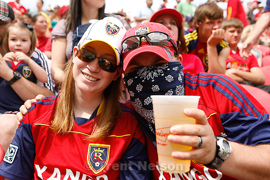Trent Nelson  |  The Salt Lake Tribune.Real Salt Lake vs. Chivas US, MLS Soccer at Rio Tinto Stadium in Sandy, Utah, Saturday, May 7, 2011. jim urquhart, dayna