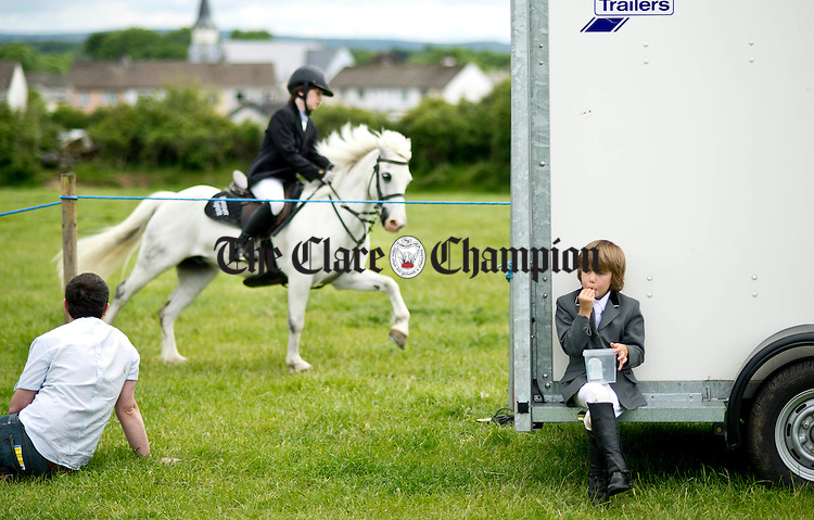 Coen Williams from Ennis behind the scenes at the Gymkhana in Ruan. Photograph by Declan Monaghan