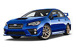 Stock pictures of low aggressive front three quarter view of 2017 Subaru WRX STI - 4 Door Sedan Low Aggressive
