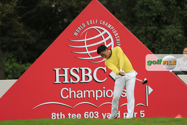 Zhang Xinjun (CHN) on the 8th tee during round 3 of the WGC-HSBC Champions, Sheshan International GC, Shanghai, China PR.  29/10/2016<br /> Picture: Golffile   Fran Caffrey<br /> <br /> <br /> All photo usage must carry mandatory copyright credit (&copy; Golffile   Fran Caffrey)