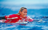 Lisa Andersen, 3rd Billabong Pro Teahupoo, Tahiti..photo:  joliphotos.com