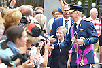 King Philippe and Princess Elisabeth after the Te Deum mass, on the occasion of today's Belgian National Day, at the Saint Michael and St Gudula Cathedral<br /> Brussels, 21 July 2015, Belgium
