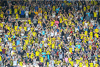 Burton Albion fans celebrate after their side drew level<br /> <br /> Photographer Alex Dodd/CameraSport<br /> <br /> The EFL Sky Bet Championship - Preston North End v Burton Albion - Sunday 6th May 2018 - Deepdale Stadium - Preston<br /> <br /> World Copyright &copy; 2018 CameraSport. All rights reserved. 43 Linden Ave. Countesthorpe. Leicester. England. LE8 5PG - Tel: +44 (0) 116 277 4147 - admin@camerasport.com - www.camerasport.com