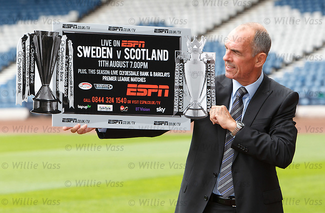 Scotland legend Joe Jordan at Hampden as he promotes ESPN's coverage of Sweden v Scotland