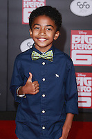 HOLLYWOOD, LOS ANGELES, CA, USA - NOVEMBER 04: Miles Brown arrives at the Los Angeles Premiere Of Disney's 'Big Hero 6' held at the El Capitan Theatre on November 4, 2014 in Hollywood, Los Angeles, California, United States. (Photo by David Acosta/Celebrity Monitor)
