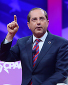 United States Secretary of Health and Human Services (HHS) Alex Azar speaks at the Conservative Political Action Conference (CPAC) at the Gaylord National Resort and Convention Center in National Harbor, Maryland on Thursday, February 28, 2019.<br /> Credit: Ron Sachs / CNP