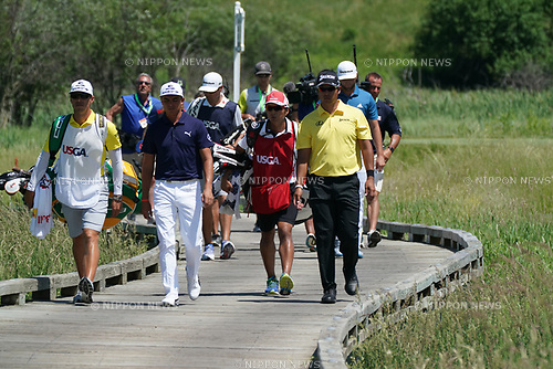 Rickie Fowler (USA), Hideki Matsuyama (JPN),<br /> JUNE 16, 2017 - Golf :<br /> Hideki Matsuyama of Japan on the 2nd hole<br /> during the second round of the 117th U.S. Open Championship<br /> at Erin Hills golf course in Erin, Wisconsin, United States.<br /> (Photo by Koji Aoki/AFLO SPORT)