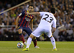Xavi Hernandez vies with Isco Alarcon during the Spanish King's Cup Final football match Real Madrid Madrid CF vs FC Barcelona  at the Mestalla stadium in Valencia on April 16, 2014  PHOTOCALL3000 / DP