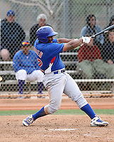 Reggie Golden #22 of the Chicago Cubs participates in intrasquad spring training games at the Cubs complex on March 21, 2011  in Mesa, Arizona. .Photo by:  Bill Mitchell/Four Seam Images.