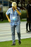 BARRANQUILLA-COLOMBIA, 12-05-2019: Julio Comesaña, técnico de Atlético Junior, durante partido entre Atlético Junior y Atlético Nacional, de la fecha 1 de los cuadrangulares semifinales por la Liga Águila I 2019,  jugado en el estadio Metropolitano Roberto Meléndez de la ciudad de Barranquilla. / Julio Comesaña, coach of Atletico Junior during a match between Atletico Junior and Atletico Nacional, of the 1st date of the semifinals quarters for the Aguila Leguaje I 2019  played at the Metropolitano Roberto Melendez Stadium in Barranquilla city, Photo: VizzorImage / Alfonso Cervantes / Cont.