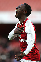 For Balogun celebrates scoring Arsenal's first goal during Arsenal Youth vs Blackpool Youth, FA Youth Cup Football at the Emirates Stadium on 16th April 2018