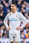 Cristiano Ronaldo of Real Madrid looks on during the La Liga 2017-18 match between Real Madrid and FC Barcelona at Santiago Bernabeu Stadium on December 23 2017 in Madrid, Spain. Photo by Diego Gonzalez / Power Sport Images