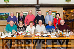 ESB Killarney Retirement Group Christmas Party in the Beaufort Bar last Saturday night. Pictured front l-r John Clifford, Teresa Clifford, Maureen Somers, Pat Lynch, Pat Moriarty and James Houlihan, back l-r Kevin O'Connor, Neily O'Mahony, Sam Sleator, Sean O'Connor, Con O'Mahony and Margaret Hickey.