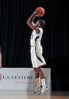 Florida International University guard Tola Akomolafe (33) plays against ULM, which won the game 54-50 on January 07, 2012 at Miami, Florida. .