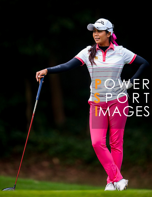 Ajira Nualraksa of Thailand in action during the Hyundai China Ladies Open 2014 practice day on December 11 2014 at Mission Hills Shenzhen, in Shenzhen, China. Photo by Xaume Olleros / Power Sport Images